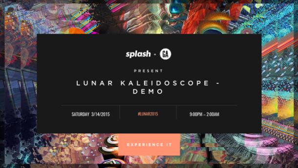 Splash Event Page